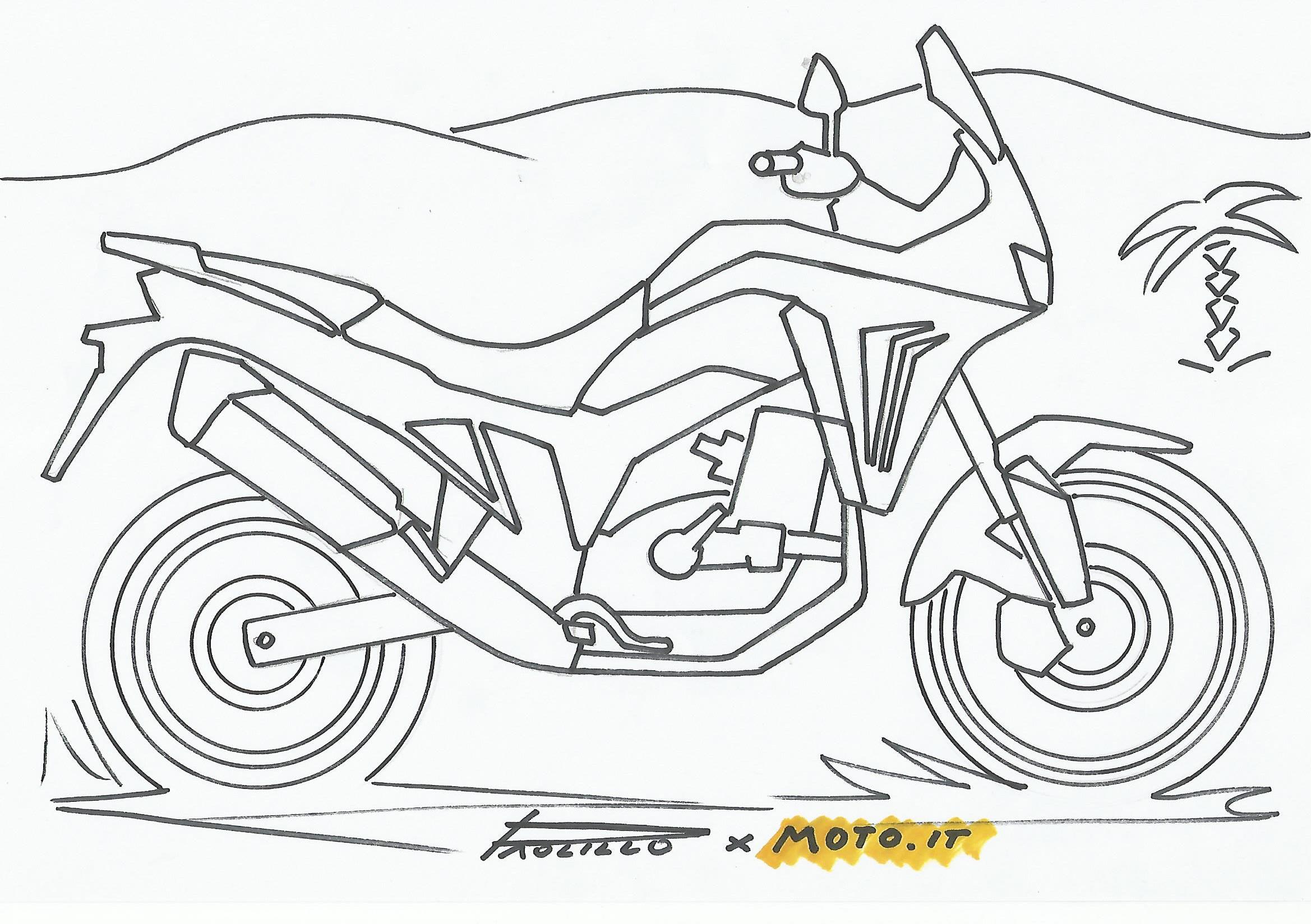 Coloralapassione Le Moto Da Stampare E Colorare Honda Africa Twin News Moto It